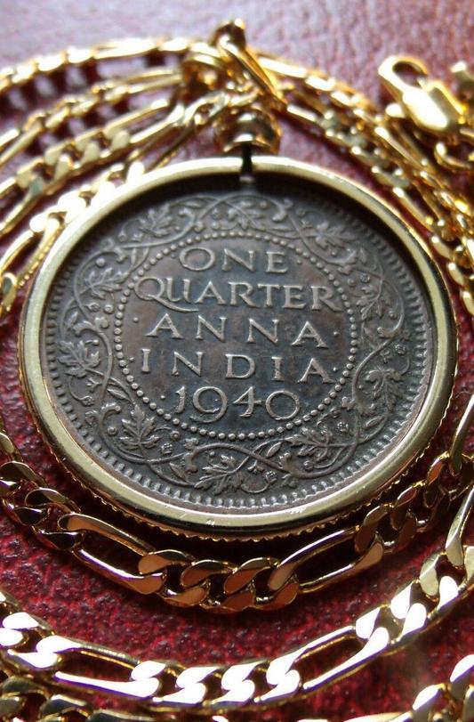 India One Quarter Pendant Anna Coin Pendant