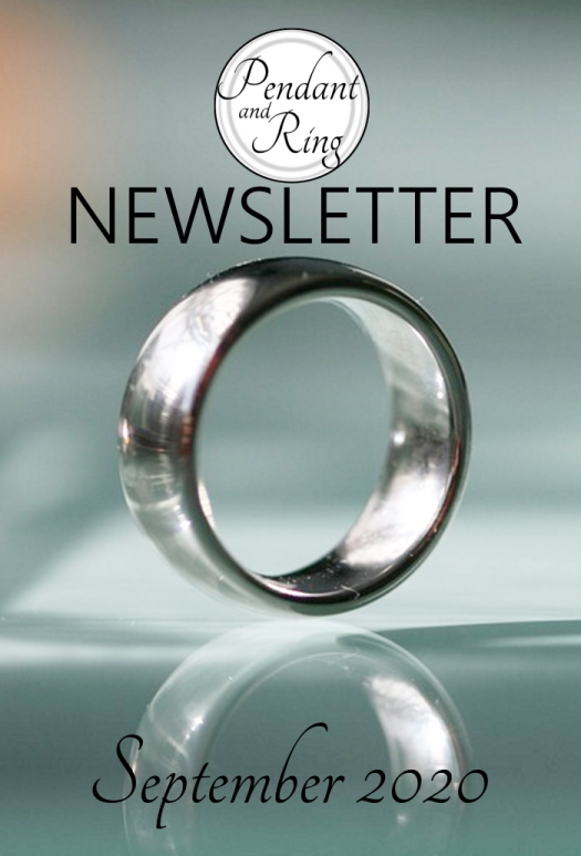 Jewelry Newsletter, Silver Ring, Pendant and Ring 9-2020