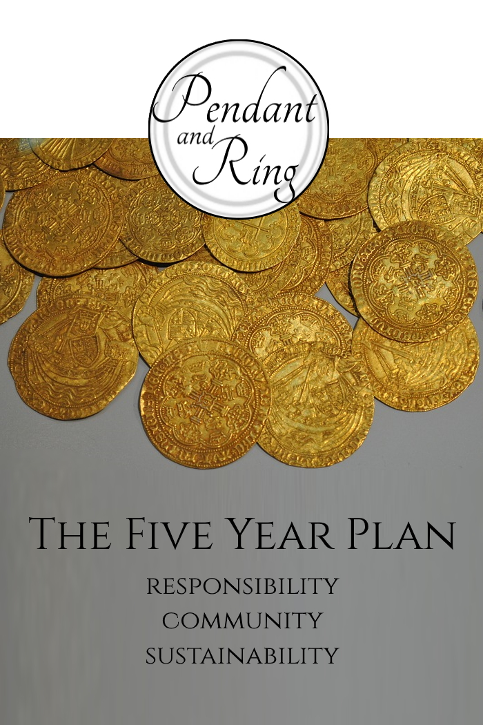 Pendant and Ring Jewelry 5 year plan
