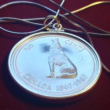 Wolf Necklace Cion Pendant