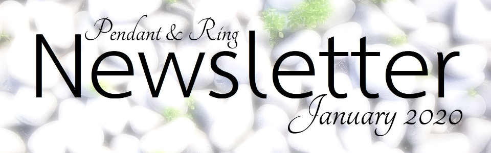 Jewelry Newsletter Pendant and Ring January 2020