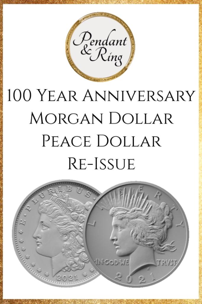 Silver Dollar Morgan Dollar Peace Dollar Pendant and Ring