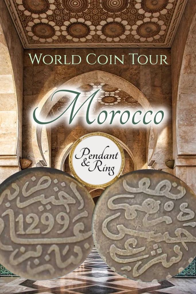 Morocco Coin Pendant Morocco Coin Jewelry Morocco Coin Necklace
