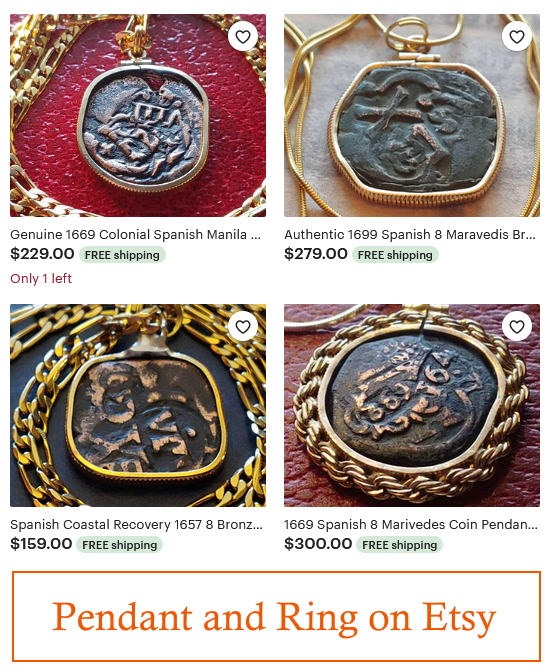coin pendant, coin necklace, rasta jewelry, pirate jewelry,