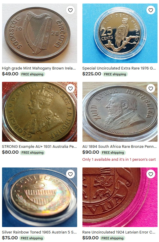 pendantandring coins on etsy numismatist collecting collector collection proof dcam uncirculated